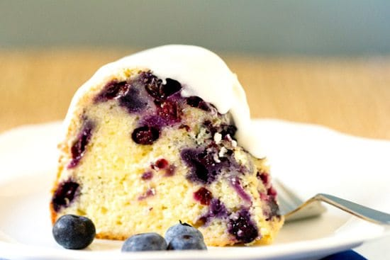 Blueberry Lemon Buttermilk Bundt Cake