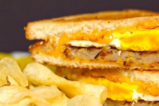 Bacon Egg Hash Brown Grilled Cheese Sandwich Brown Eyed Baker