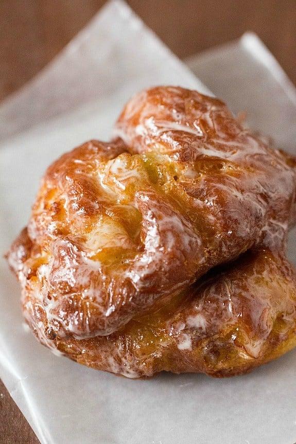Apple Fritter Doughnuts Brown Eyed Baker
