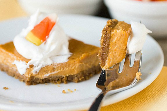 Maple Pumpkin Cheesecake Bars | Brown Eyed Baker