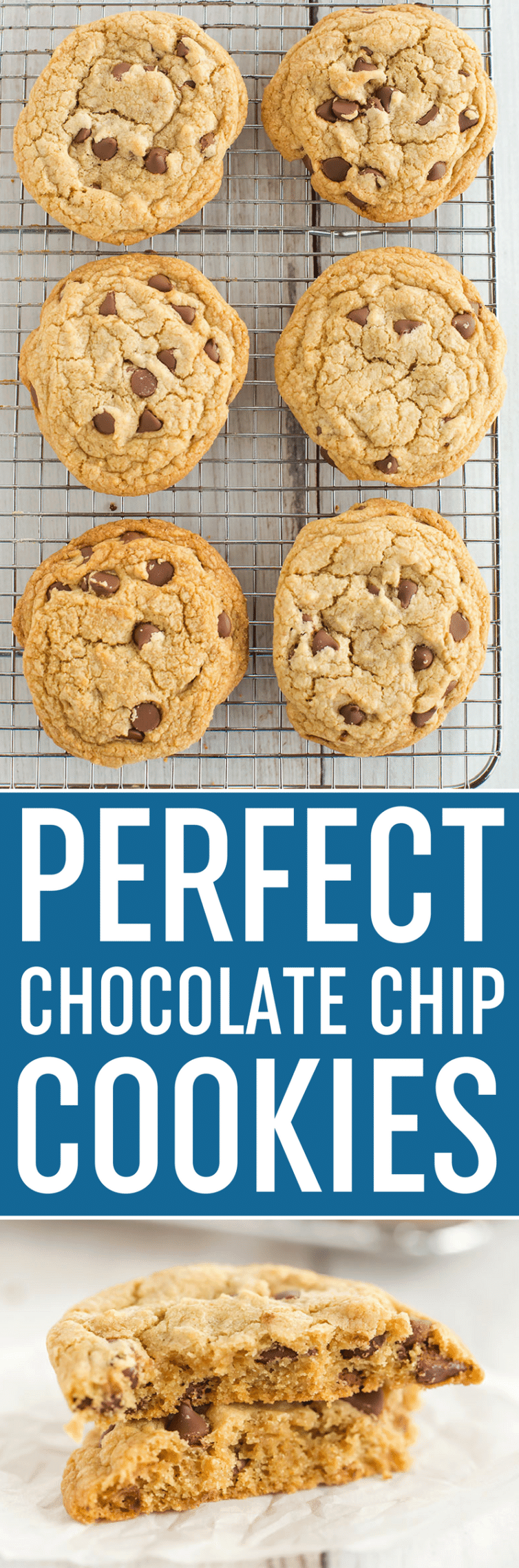 Cook's Illustrated Perfect Chocolate Chip Cookies are large, bakery-style chocolate chip cookies made with browned butter and dark brown sugar for a toffee-like flavor.