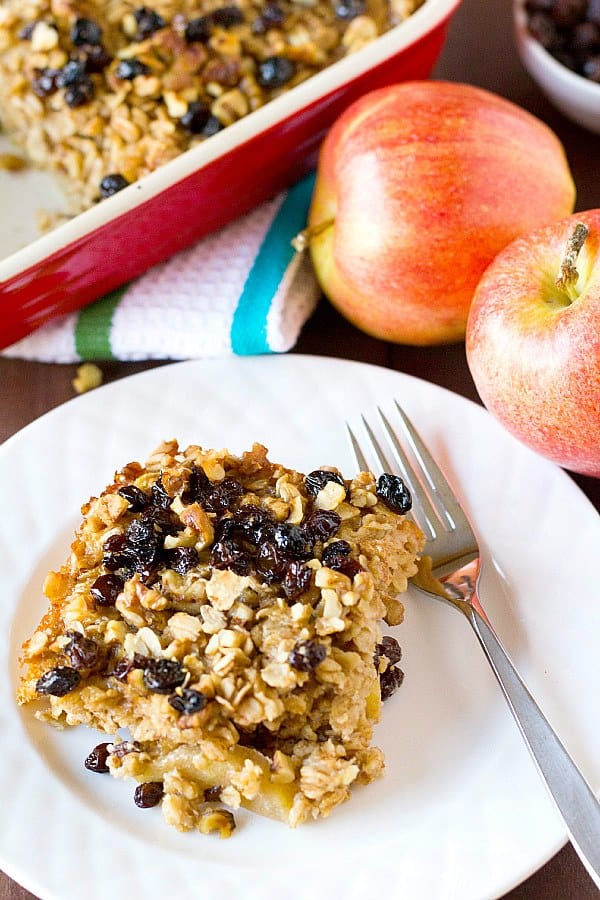 Apple, Raisin & Walnut Baked Oatmeal
