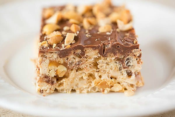 Snickers Rice Krispies Treats