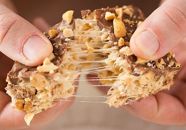 Snickers Rice Krispies Treats