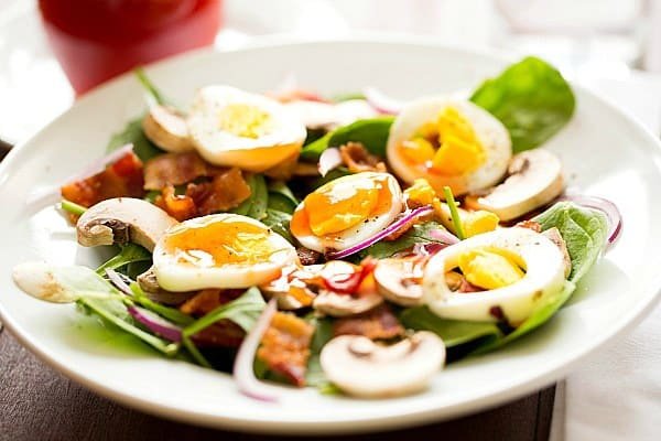 Warm Spinach-Bacon Salad