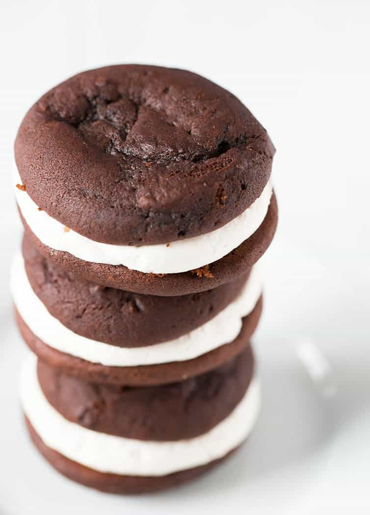 A big stack of chocolate gobs (otherwise known as whoopie pies)
