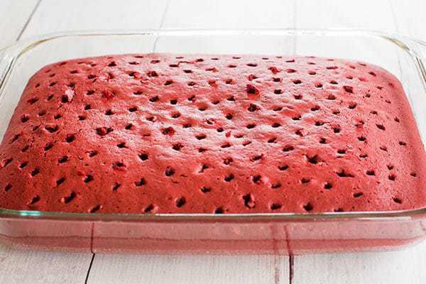 Red Velvet Poke Cake | Brown Eyed Baker