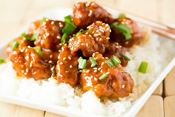Image result for sesame chicken