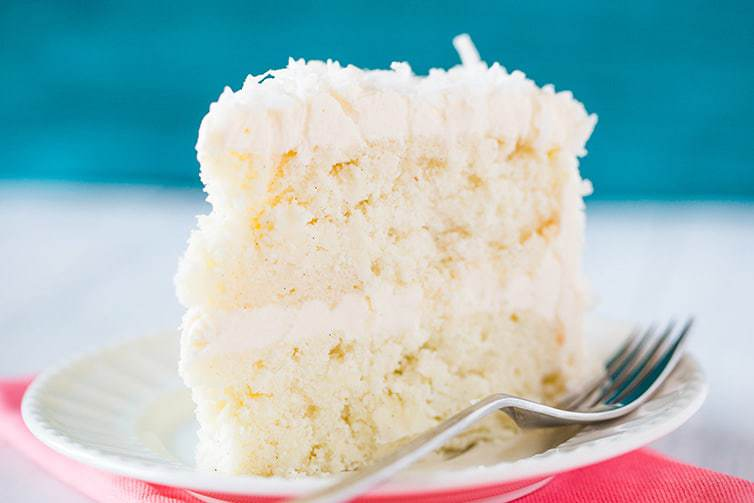 Vanilla Cake With Coconut Frosting