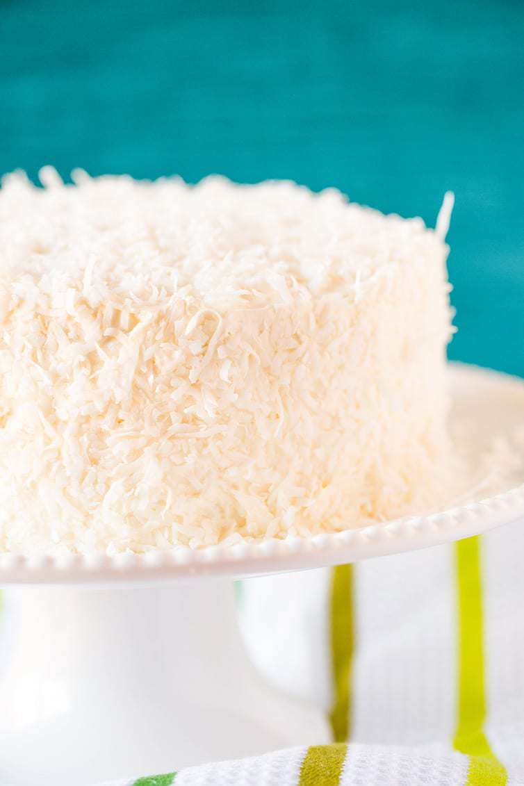 Coconut Vanilla Bean Cake With Coconut Meringue Buttercream Frosting A Super Moist Coconut