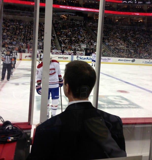 Penguins vs Montreal: Seats behind penalty box