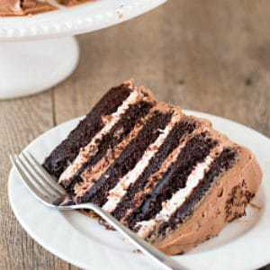 Six Layer Chocolate Cake With Toasted Marshmallow Filling