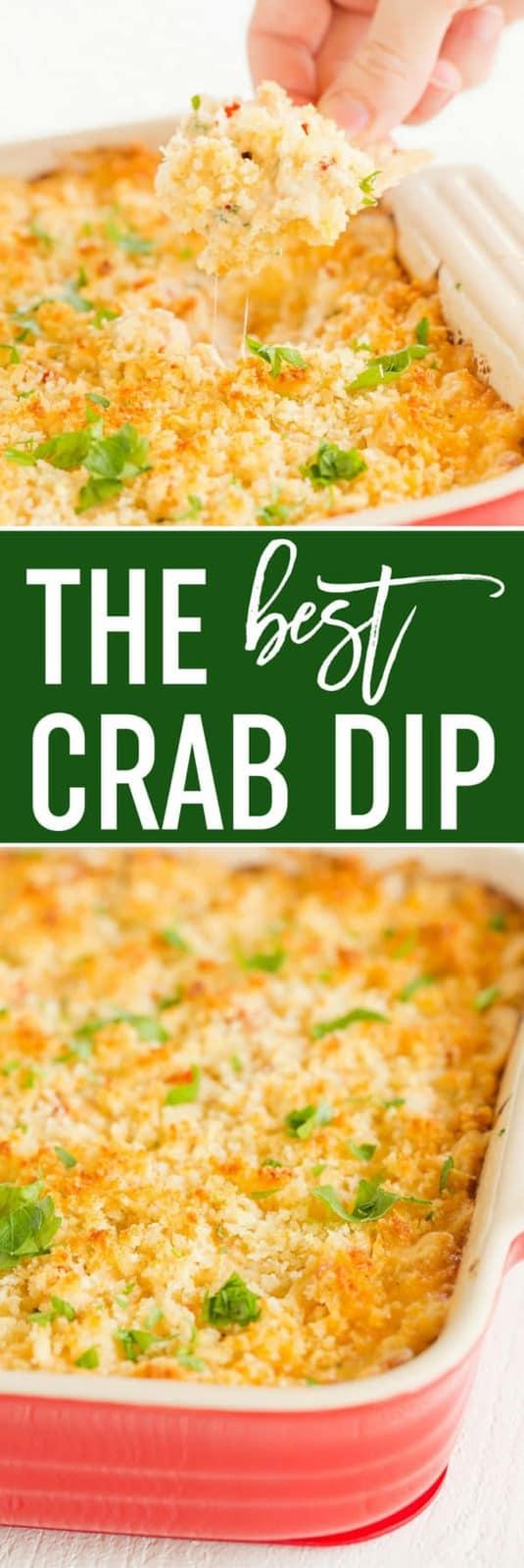 The BEST easy crab dip!