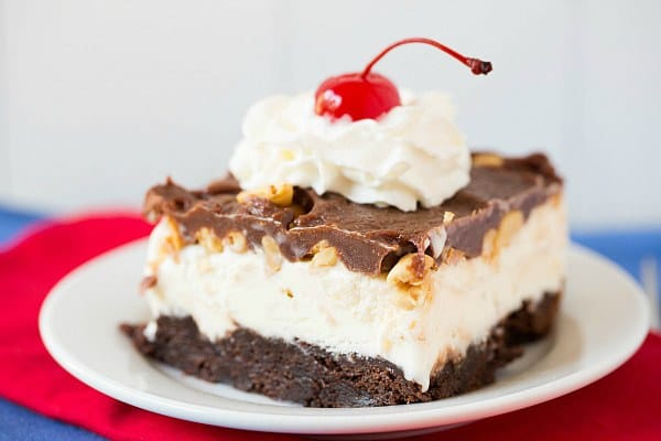 Frozen Brownie Sundae