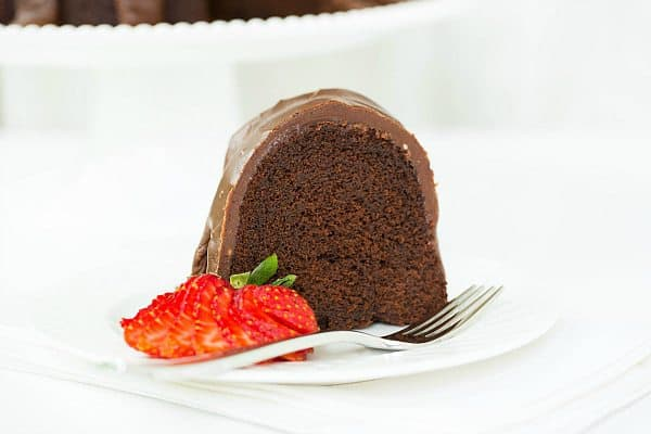 Chocolate Bundt Cake with Chocolate Fudge Icing