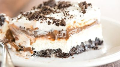 This No Bake Oreo Layer Dessert is decadent and perfect for summer!