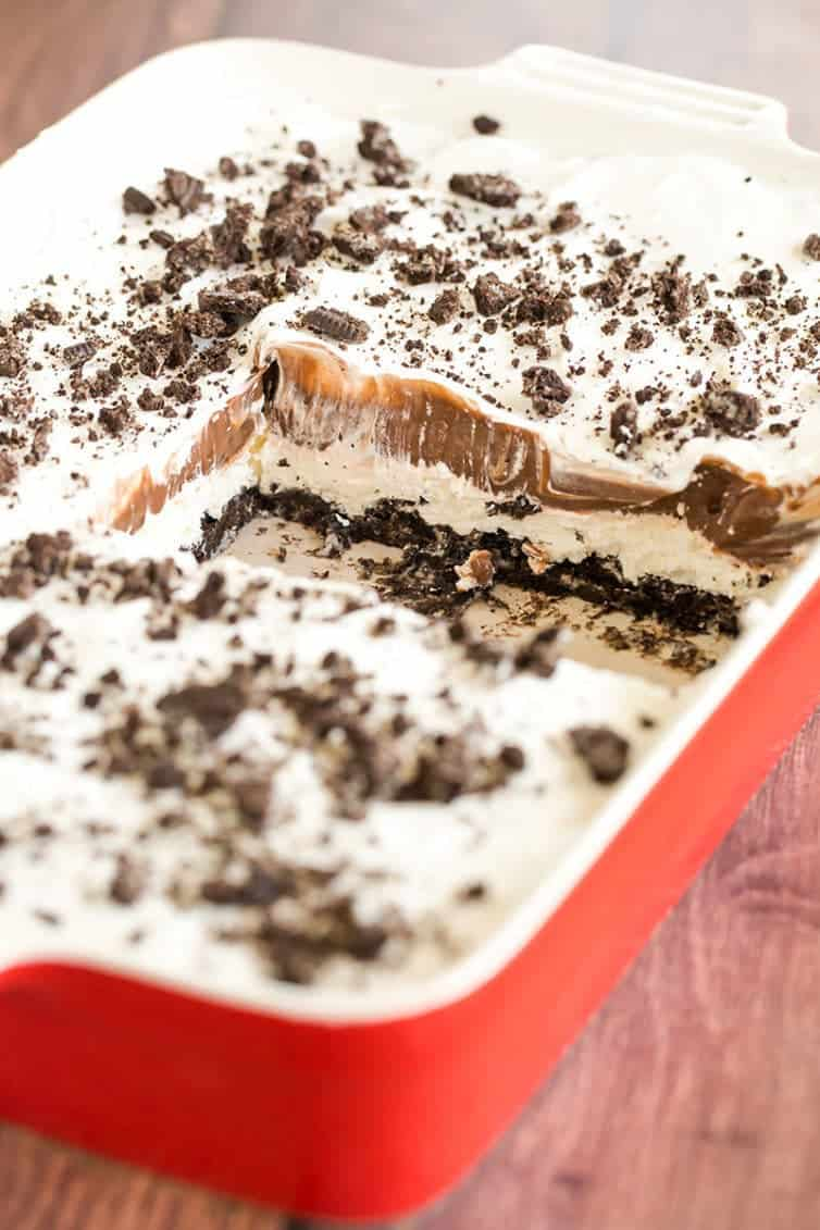 No Bake Oreo Layer Dessert - The pan won't last long!