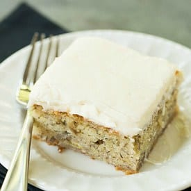 Banana Cake Recipe with Cream Cheese Frosting