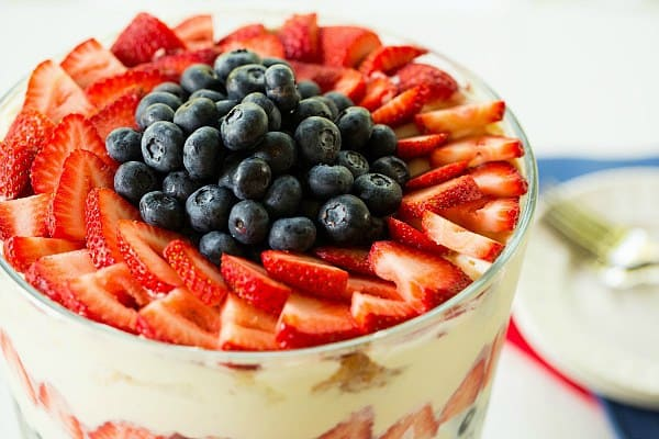 Red, White & Blue Berry Trifle by Brown Eyed Baker :: www.browneyedbaker.com