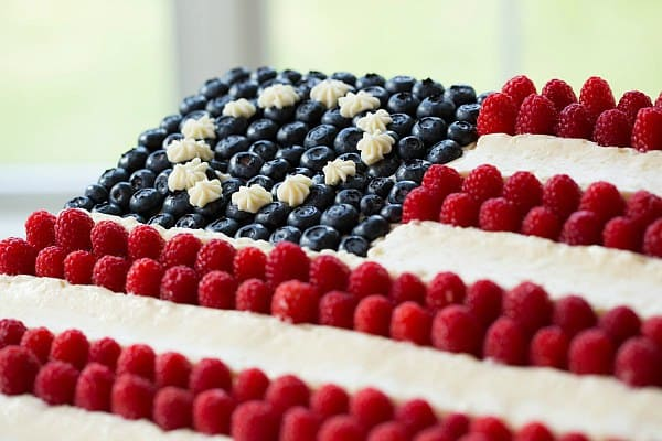 Flag Cake (From Scratch!) on Brown Eyed Baker :: www.browneyedbaker.com