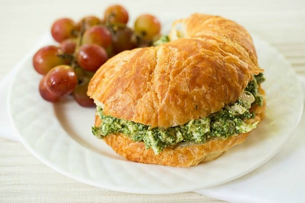 Pesto Chicken Salad by Brown Eyed Baker :: www.browneyedbaker.com