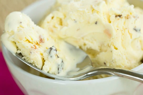Toasted Coconut Dark Chocolate Chunk Ice Cream by @browneyedbaker :: www.browneyedbaker.com