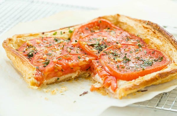 Tomato and Mozzarella Tart by @browneyedbaker :: www.browneyedbaker.com