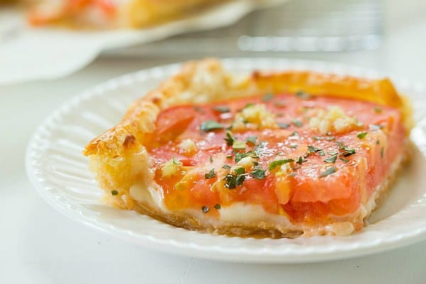 Tomato and Mozzarella Tart by @browneyedbaker :: www.browneyedbaker.com