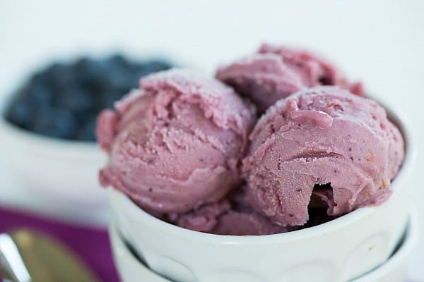 Blueberry Buttermilk Sherbet by @browneyedbaker :: www.browneyedbaker.com