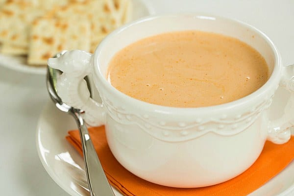 Crab Bisque Recipe by @browneyedbaker :: www.browneyedbaker.com