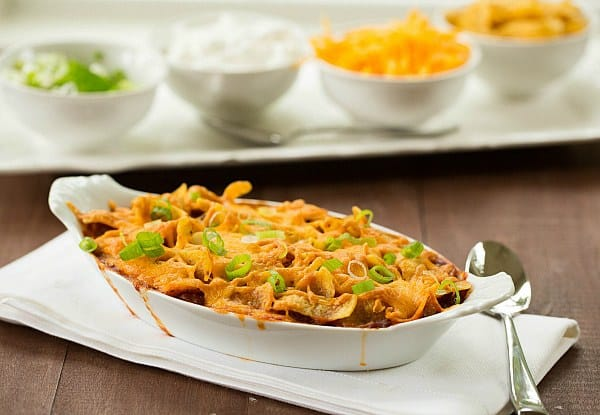 Frito Pie Recipe by @browneyedbaker :: www.browneyedbaker.com