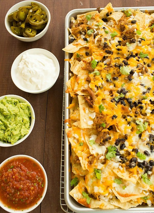 Ultimate Nachos with Beer-Braised Carnitas by @browneyedbaker :: www.browneyedbaker.com