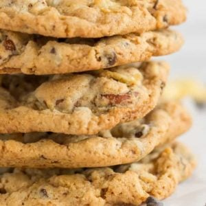 A stack of the famous compost cookies from Momofuku Milk Bar.