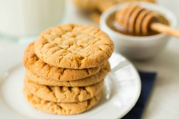 Honey-Peanut Butter Cookies by @browneyedbaker :: www.browneyedbaker.com