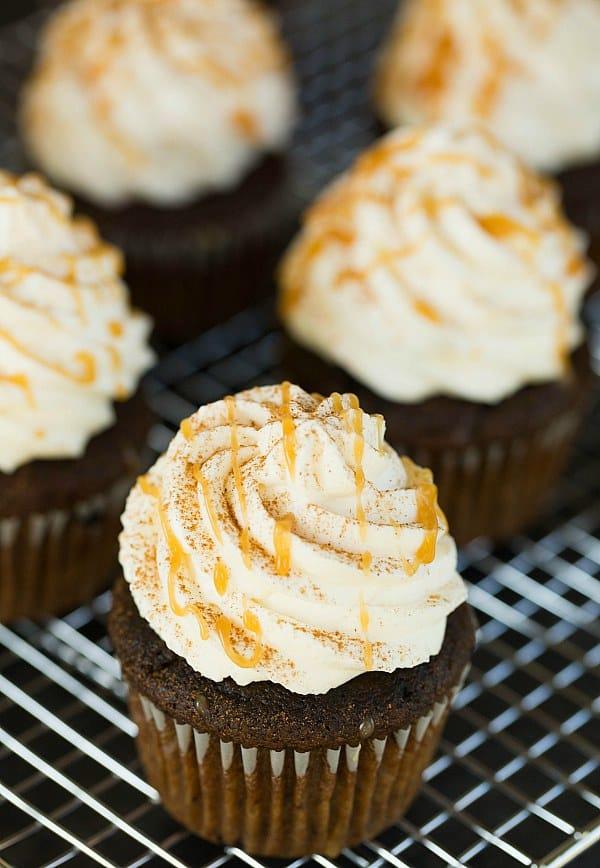 Pumpkin Spice Latte Cupcakes by @browneyedbaker :: www.browneyedbaker.com