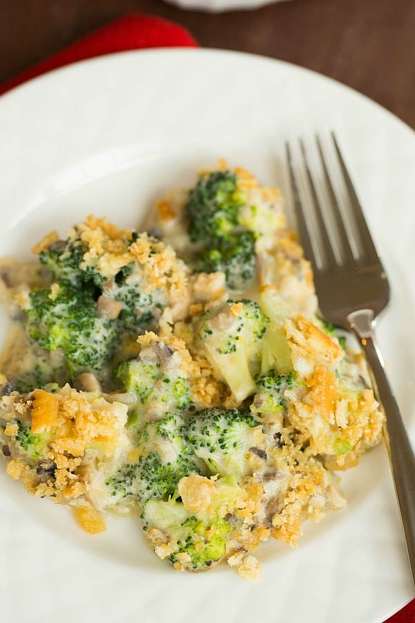 Broccoli Casserole (From Scratch!) on @browneyedbaker :: www.browneyedbaker.com