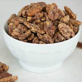 Cinnamon-Sugar Candied Pecans Recipe | Holiday Recipes