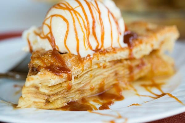 Salted Caramel Apple Pie by @browneyedbaker :: www.browneyedbaker.com
