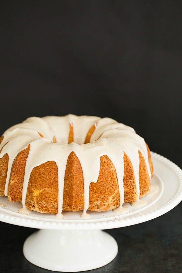 Eggnog Bundt Cake with Rum Icing by @browneyedbaker :: www.browneyedbaker.com