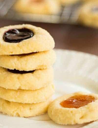 Classic Jam Filled Thumbprint Cookies