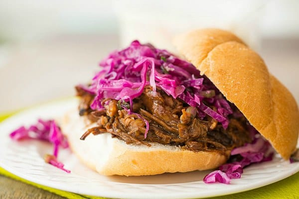 Honey-Balsamic Pulled Pork with Asian Slaw by @browneyedbaker :: www.browneyedbaker.com