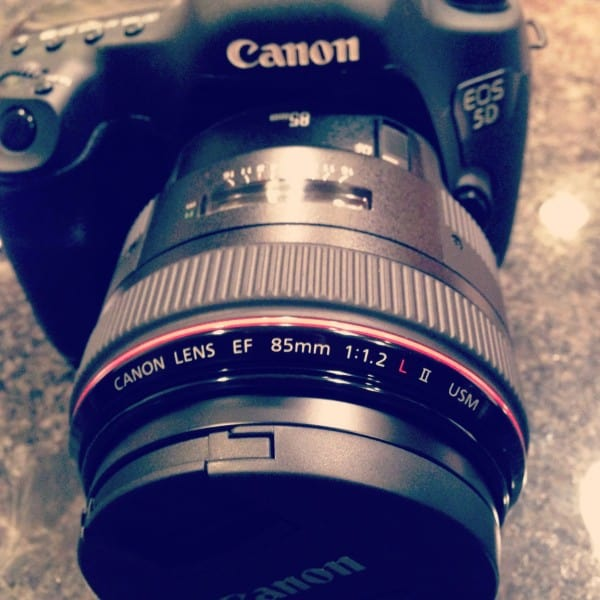 New Canon 85mm 1.2 lens