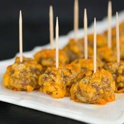 Sausage-Cheddar Bites