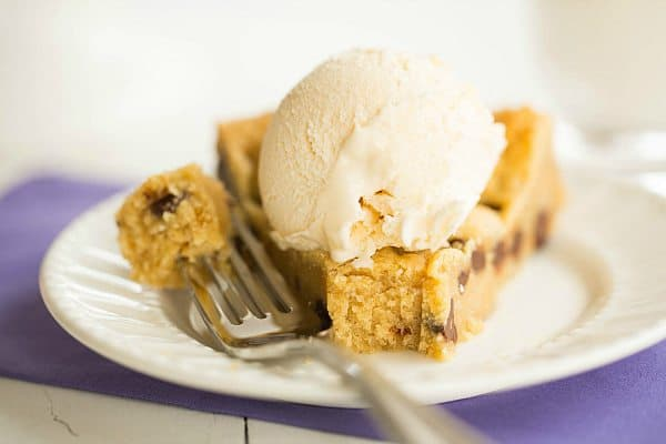 Chocolate Chip Cookie Cake | browneyedbaker.com #recipe