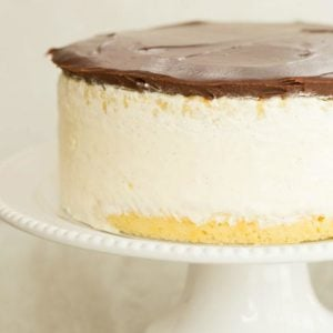Double Vanilla Ice Cream Cake   browneyedbaker.com #recipe