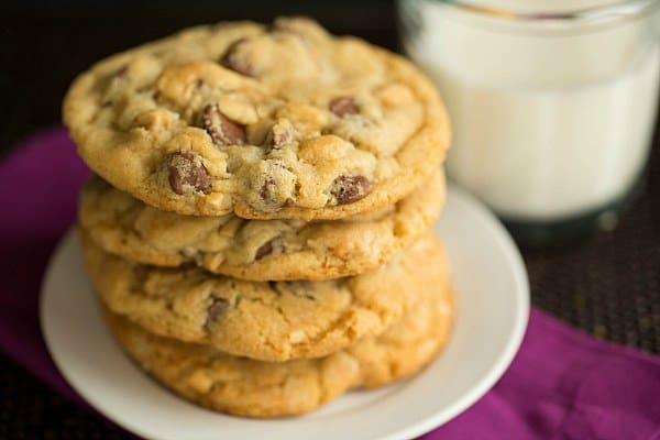 Sea Salt, Cashew and Milk Chocolate Chip Cookies | browneyedbaker.com