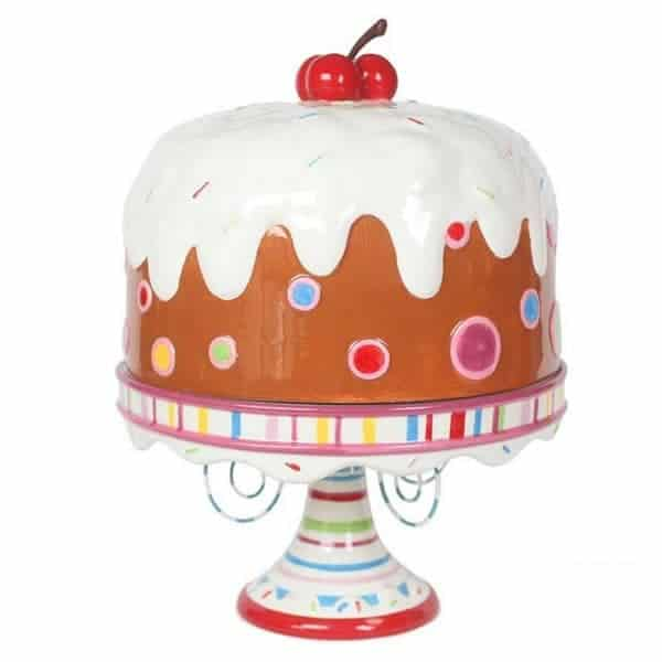 Glitterville Lots of Frosting! Covered Cake Plate