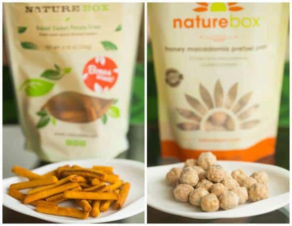 NatureBox Baked Sweet Potato Fries and Honey Macadamia Pretzel Pops