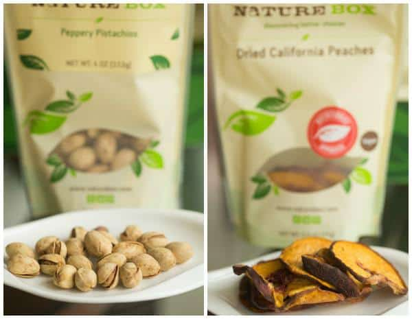NatureBox Peppery Pistachios and Dried Peaches