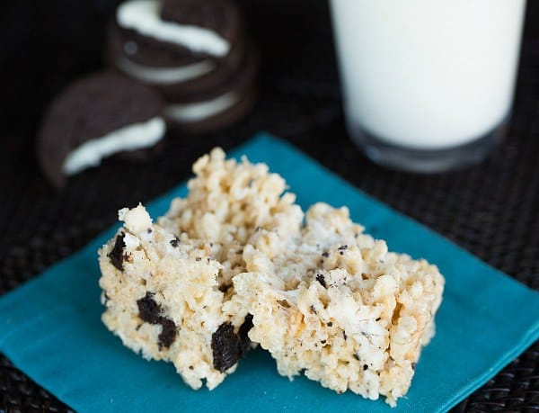 OREO Rice Krispies Treats | browneyedbaker.com #recipe